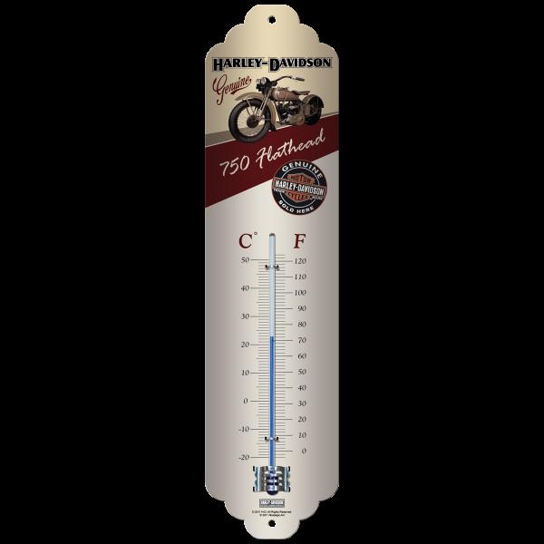Harley-Davidson Flathead Thermometer Größe: ca 28x6cm