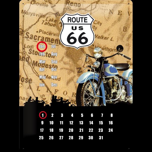 Route 66 Kalender 30 x 40 cm (Länge / Breite)