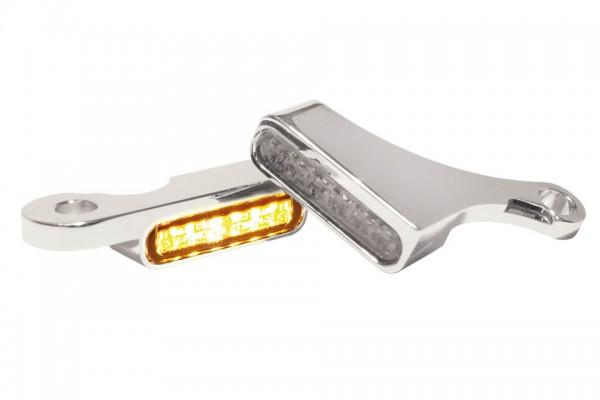 HeinzBikes LED Armaturen Blinker SOFTAIL Modelle ab 2015, silber, E-geprüft