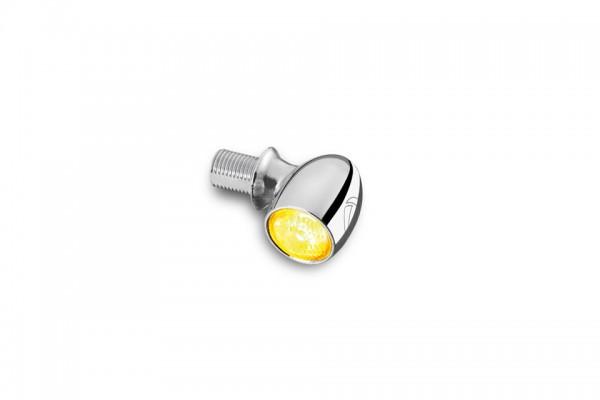 LED-Blinker Bullet Atto, chrom, klares Glas, E-geprüft, für vorne und hinten