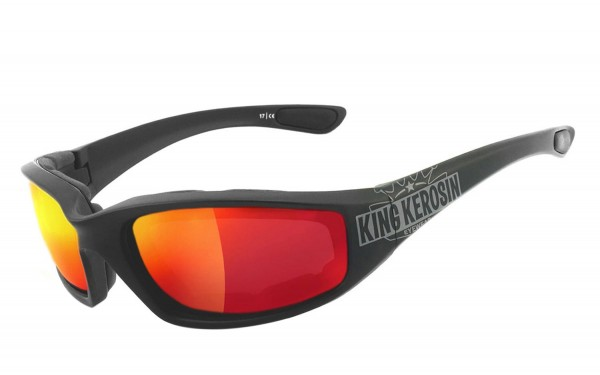 King Kerosin: KK140 gepolstert - laser red