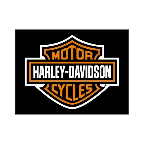 Harley-Davidson Logo Magnet 6 x 8 cm (Länge / Breite)