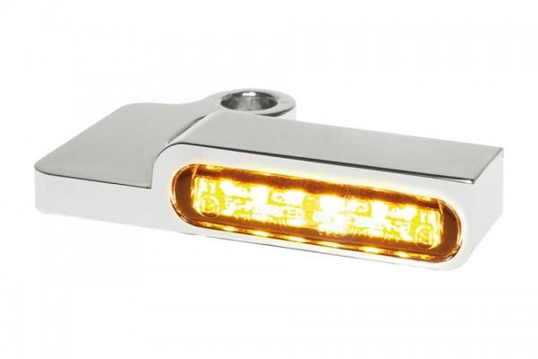 HeinzBikes LED Armaturen Blinker SPORTSTER Modelle bis 2013, silber, E-geprüft