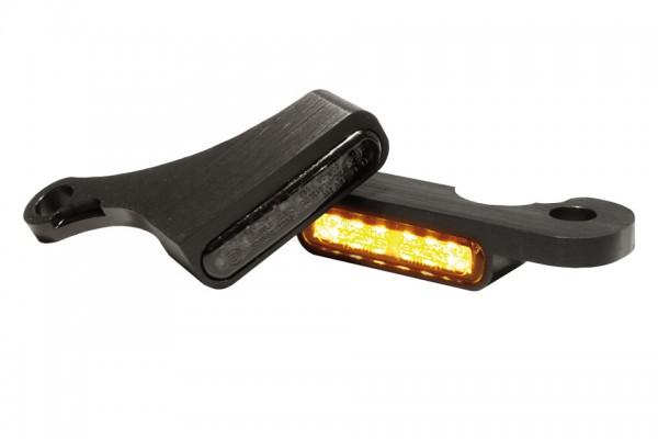 HeinzBikes LED Armaturen Blinker SOFTAIL Modelle ab 2015, schwarz, E-geprüft