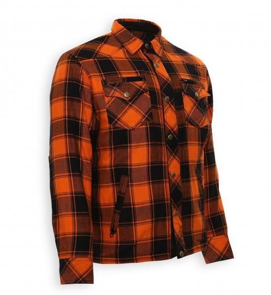 Bores Lumberjack Jacken-Hemd in Holzfäller Optik orange-schwarz, reißfest