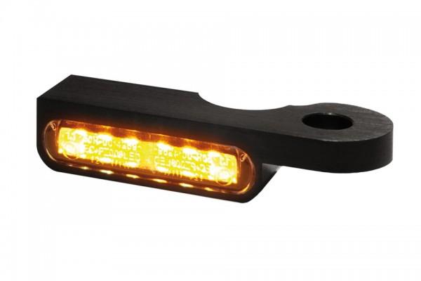 HeinzBikes LED Armaturen Blinker SOFTAIL Modelle bis 2014, schwarz, E-geprüft
