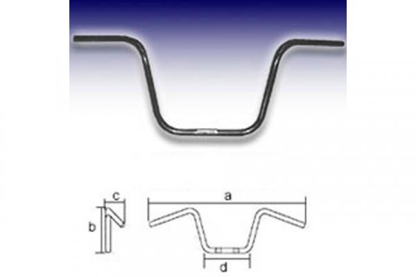 Lenker APE Hanger Low, schwarz, 1 Zoll, 3-Loch, H27, TÜV-Mustergutachten nach § 19.3