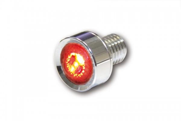 HIGHSIDER LED-Rücklicht Einheit MONO, klares Glas, verchromt