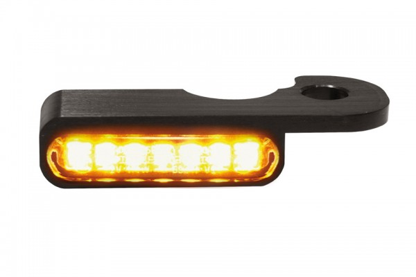 HeinzBikes LED Armaturen Blinker BREAKOUT Modelle hydr.Kupplung, schwarz, E-geprüft