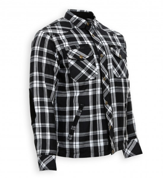 Bores Lumberjack Jacken-Hemd in Holzfäller Optik schwarz-weiß