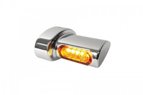 HeinzBikes Winglets MICRO LED Blinker, alle Harley-Davidson Modelle ab 1993, chrom, E-geprüft