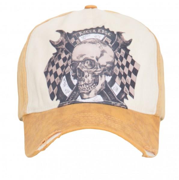 KING KEROSIN CAP MIT SKULL PRINT RACE GEAR