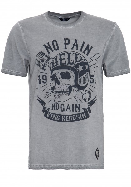 KING KEROSIN T-SHIRT IN OIL-WASHED OPTIK NO PAIN