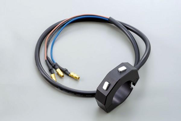 Externe CNC Tasterarmatur mit 2 Taster, schwarz, für 7/8 & 1 Zoll Lenker