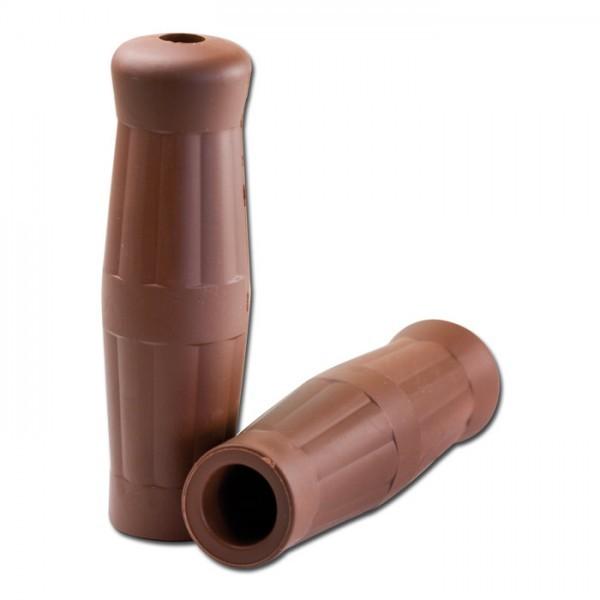 Gummi-Griff | Bobber | Braun | geschl | 1 Zoll | Länge: 130 mm | Ø 38 mm