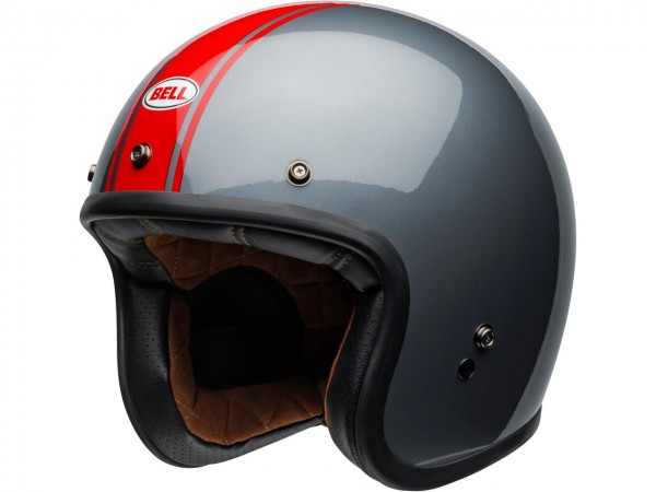 BELL Custom 500 DLX Helm Rally Gloss Gray/Red