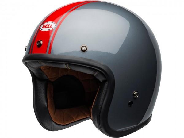 BELL Custom 500 DLX Helm Rally Gloss Gray/Red