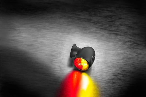 Bullet Atto DF, Rück-/Bremslicht Blinker, schwarz, klares Glas, Stück