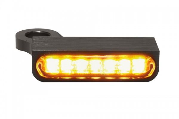 HeinzBikes LED Armaturen Blinker SPORTSTER Modelle ab 2014, schwarz, E-geprüft