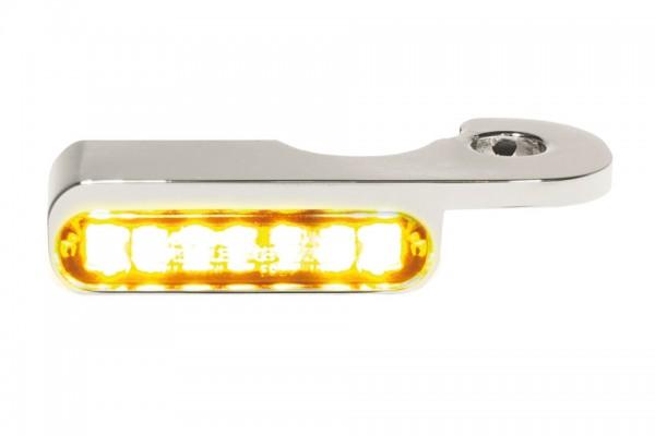 HeinzBikes LED Armaturen Blinker BREAKOUT Modelle hydr.Kupplung, silber, E-geprüft