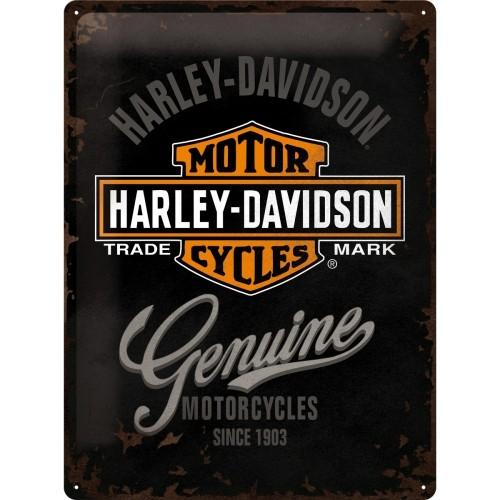Harley-Davidson Genuine Logo 30 x 40 cm (Länge / Breite)