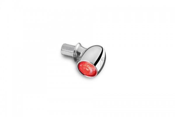 LED-Rück-/Bremslicht Bullet Atto, chrom, klares Glas, E-geprüft, für vertikale Montage