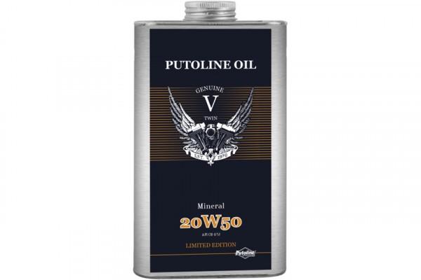 Putoline 1 L Blechdose, V -Twin Mineral 20W-50