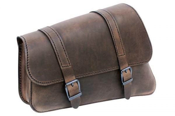 LEDRIE Satteltasche für Rahmenmontage, H-D Sportster 48 und 72, braun