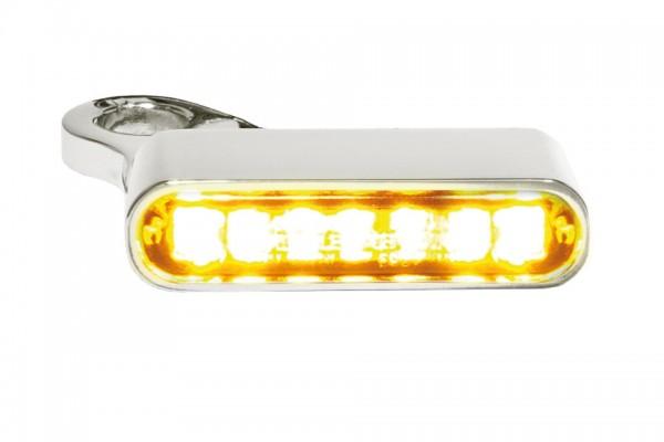 HeinzBikes LED Armaturen Blinker SPORTSTER Modelle ab 2014, silber, E-geprüft
