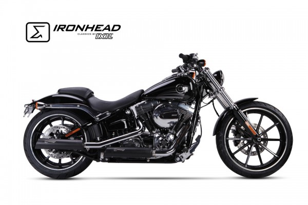 IRONHEAD-Edelstahl-Endtopf Harley-Davidson Softail Breakout, 13-16, Heritage Classic, 07-16