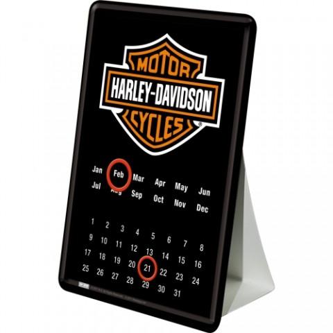 Harley-Davidson - Logo Blechpostkarte 10 x 14 cm (Länge / Breite)