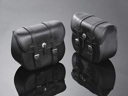 HIGHWAY HAWK Satteltaschen, Leder, schwarz
