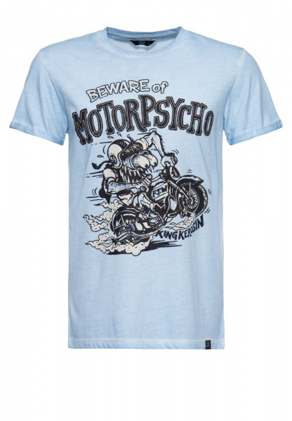 Roll-Up T-Shirt Oil Wash »Motorpsycho«