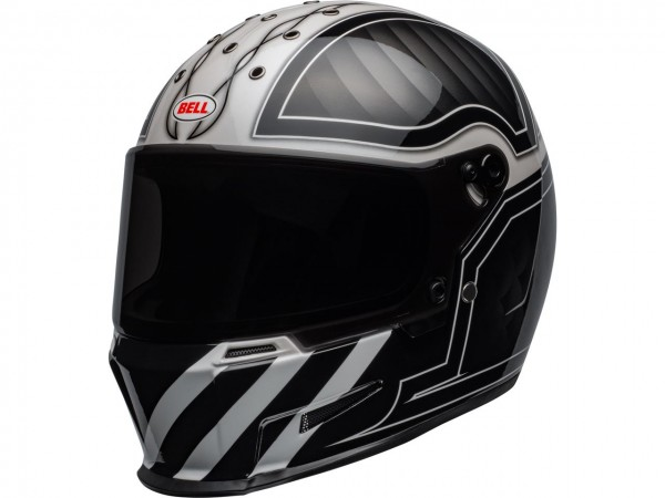 BELL Eliminator Helm Outlaw Gloss Black/White