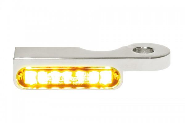 HeinzBikes LED Armaturen Blinker DYNA Modelle ab 1996, silber, E-geprüft