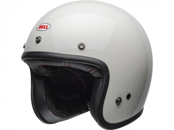 BELL Custom 500 DLX Helm Solid Vintage White