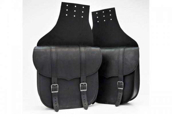 LEDRIE Überwurf-Satteltaschensatz schwarz, 9,5 l