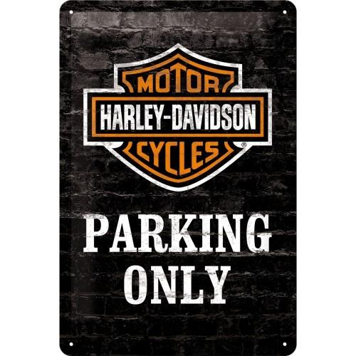 Harley-Davidson Parking Only 15x20 cm (Länge / Breite)