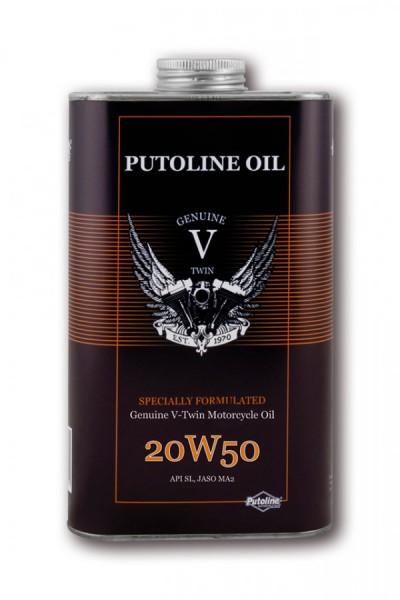 PUTOLINE V-Twin SAE 20W-50, 4-Takt Motoröl, 1 Liter Blechdose