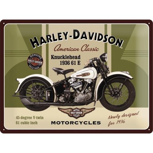 Harley-Davidson Flathead 30 x 40 cm (Länge / Breite)