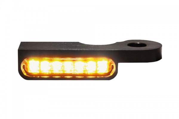 HeinzBikes LED Armaturen Blinker DYNA Modelle ab 1996, schwarz, E-geprüft