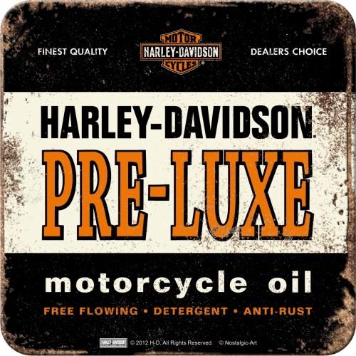 Harley-Davidson PRE-LUXE Metalluntersetzer 9 x 9 cm (Länge / Breite)