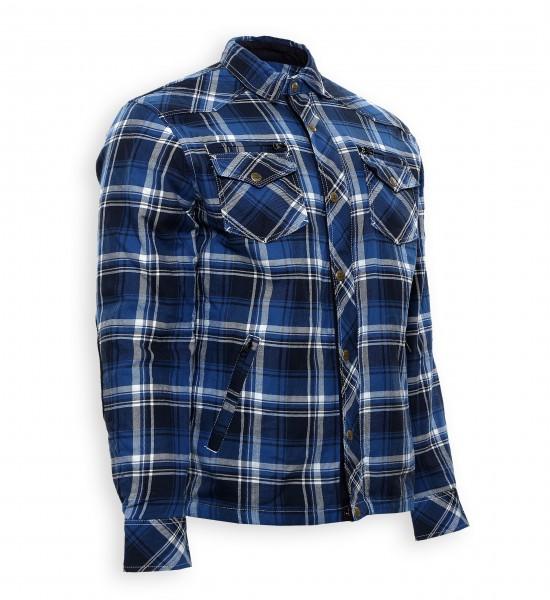 Bores Lumberjack Jacken-Hemd in Holzfäller Optik blau-weiß, reißfest