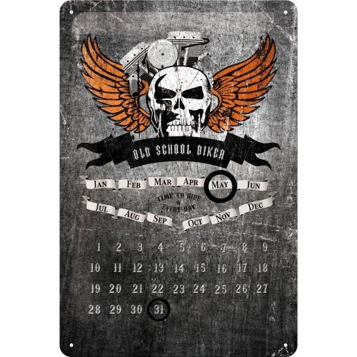 Old School Biker Skull Kalender 30x20 cm