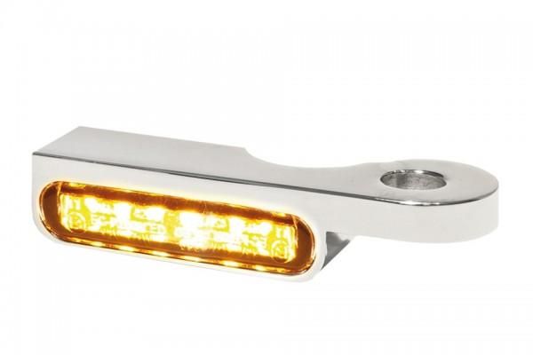 HeinzBikes LED Armaturen Blinker SOFTAIL Modelle bis 2014, silber, E-geprüft
