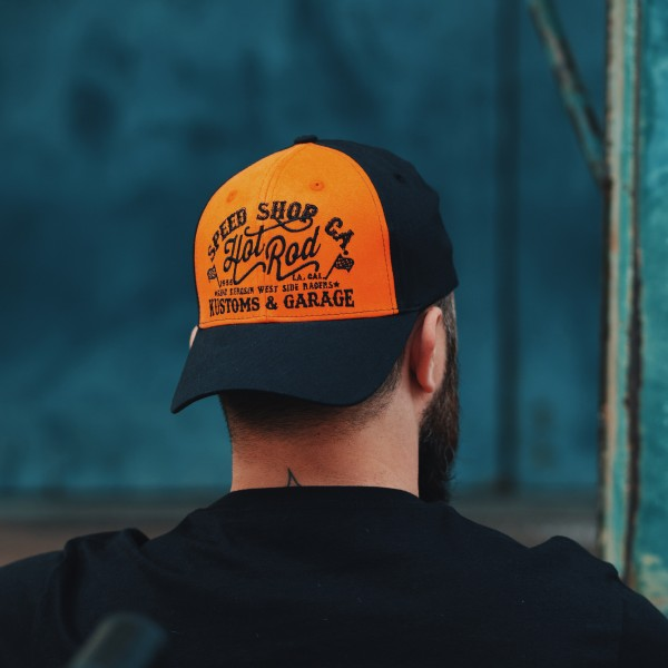 KING KEROSIN Trucker Cap mit Print auf der Schirmunterseite Hot Rod