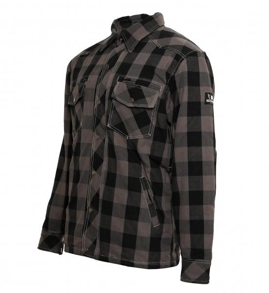 Bores Lumberjack Jacken-Hemd in Holzfäller Optik grau-schwarz, reißfest