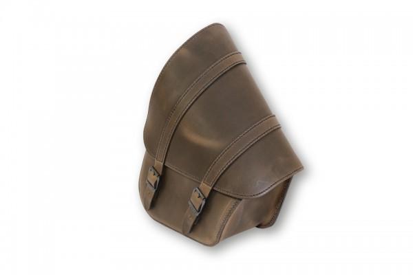 LEDRIE Satteltasche für Schwingenmontage, H-D Softail braun