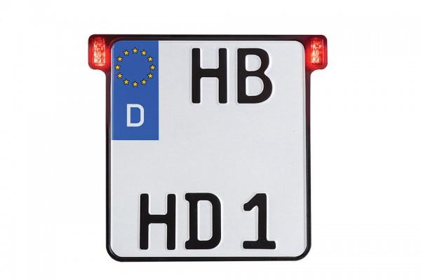 ALL-INN 2.0 Kennzeichenhalter mit Rück- & Bremslicht, schwarz eloxiert