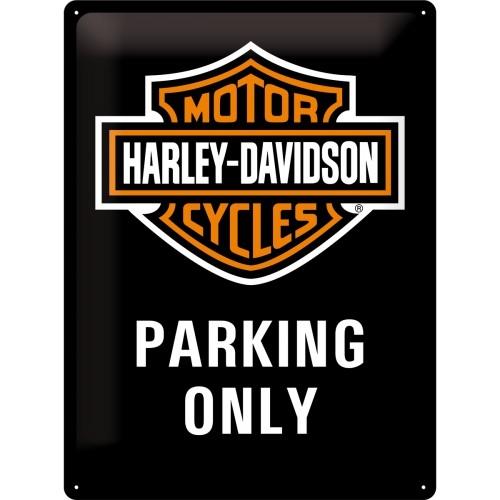 Harley-Davidson Parking Only 30 x 40 cm (Länge / Breite)